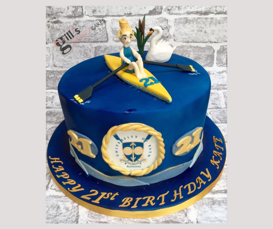 21st Birthday Cake for Bath University Rower
