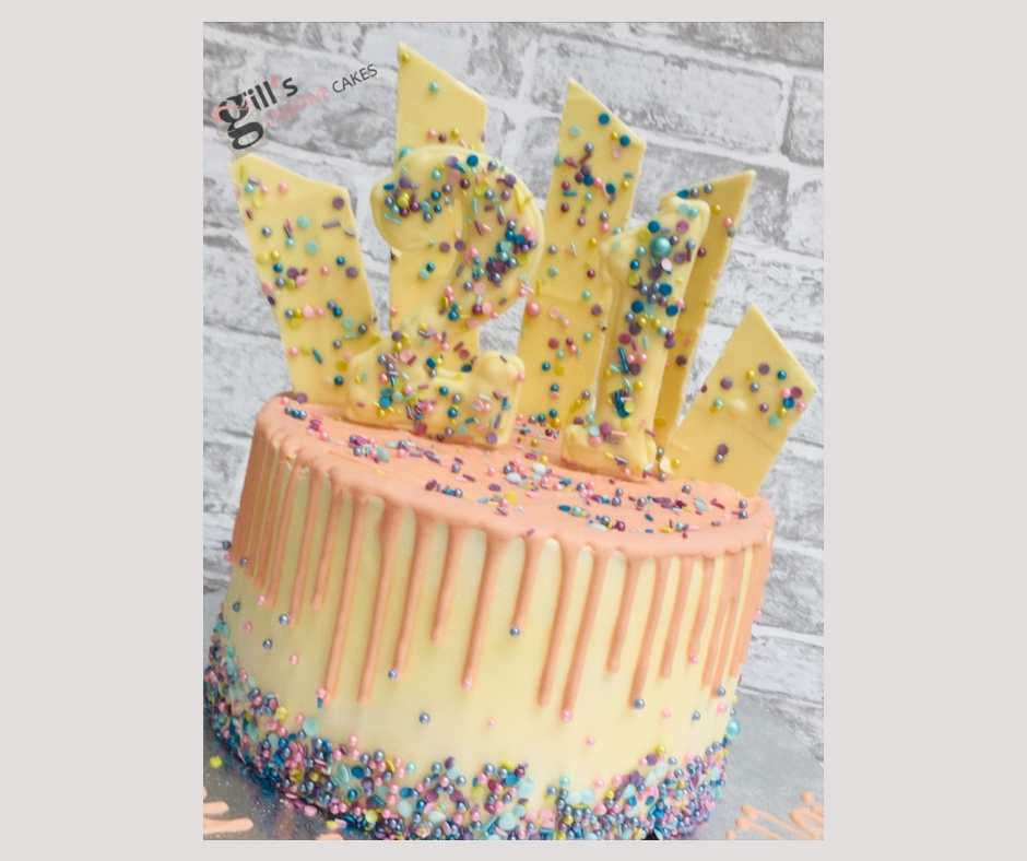21st Chocolate Shard and Sprinkles Cake