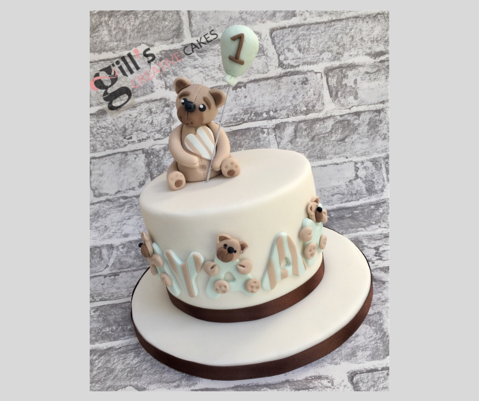 Teddy Bear 1st Birthday Cake.png