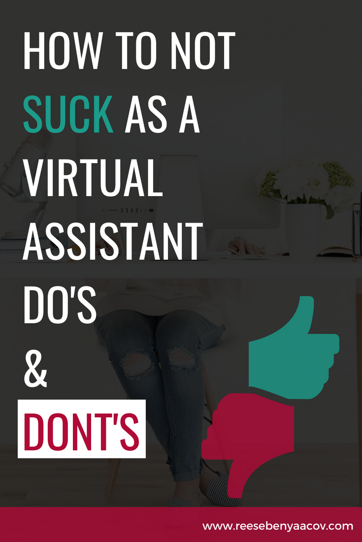 how to not suck as a virtual assistant