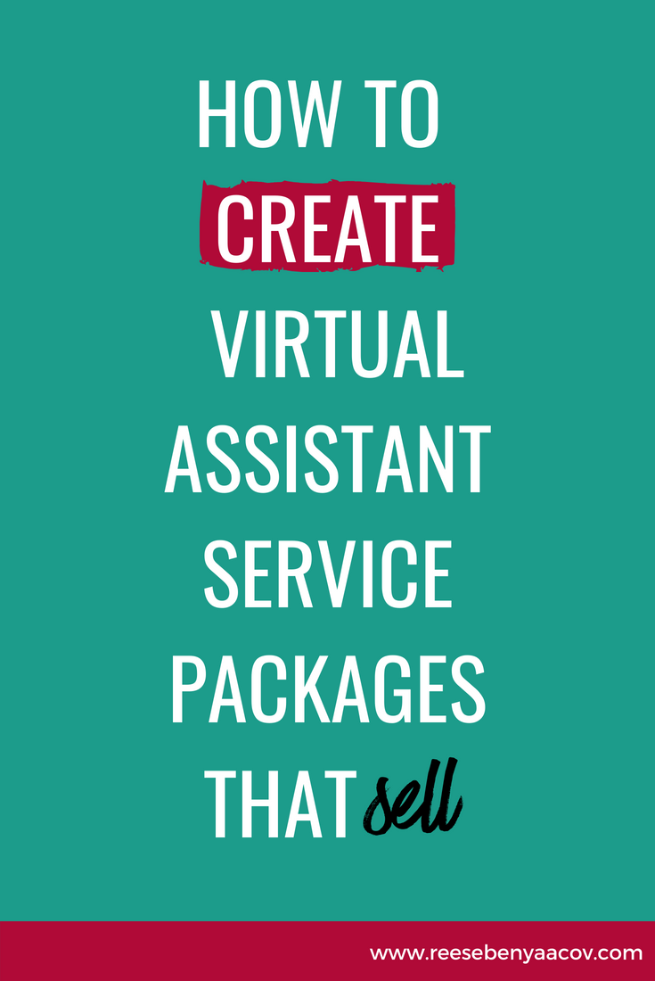 How To Create Virtual Assistant Service Packages That Sell