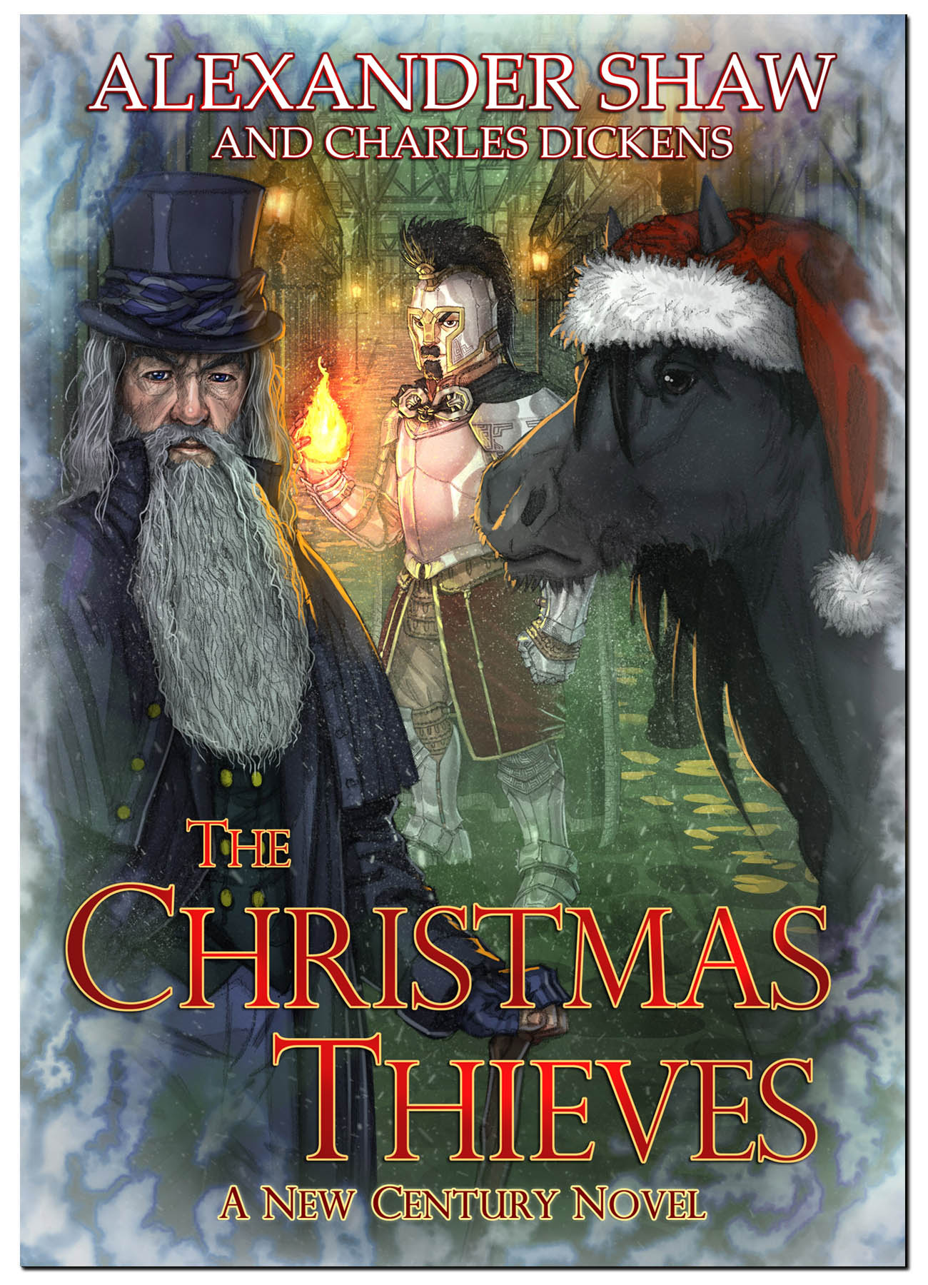 Does Everyone Deserve Redemption? - Charles Dickens' classic tale of Christmas hauntings, reimagined in a new world. It is the winter of 1882, and the wizard, Merlene, has had his eye on the Captain of the Watchmen, Ambrosius Baltus.As wrathful and mean as Ebenezer Scrooge, he is in even more of an advantageous situation to affect the people of London for good. But as Merlene's foul-mouthed horse companion The Nag warns, this armoured, firecasting duart proves to be a stubborn and dangerous choice for this Christmas Eve project, and their ethically questionable scheme may result in more harm than it does help.A novella featuring the characters of The Princess Thieves, blending Dickens' words with a new perspective.