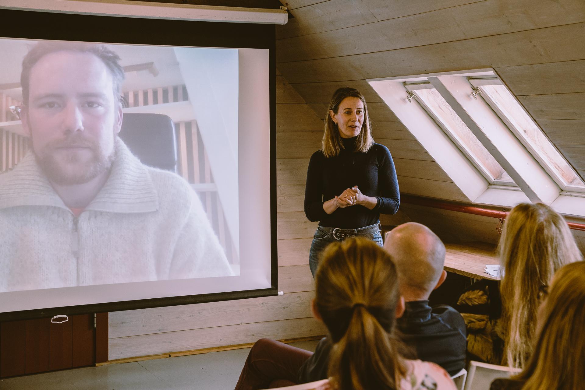 Ingvild Kjørrefjord med Thomas Morel, Foto: Margrethe Vikan Sæbø