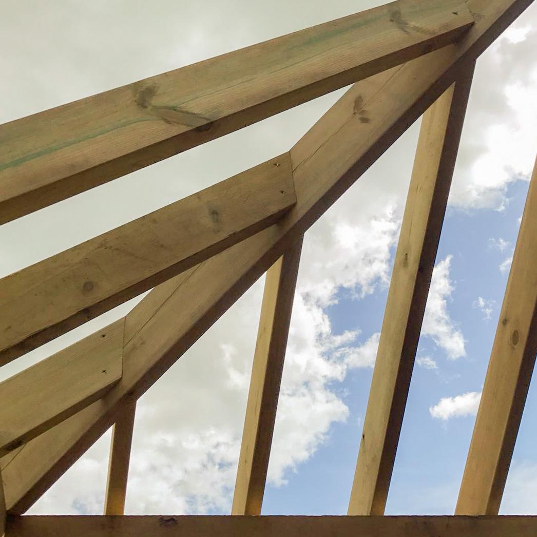 Hipped Roof On Bespoke Oak Frame