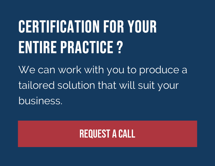Certification for your entire practice