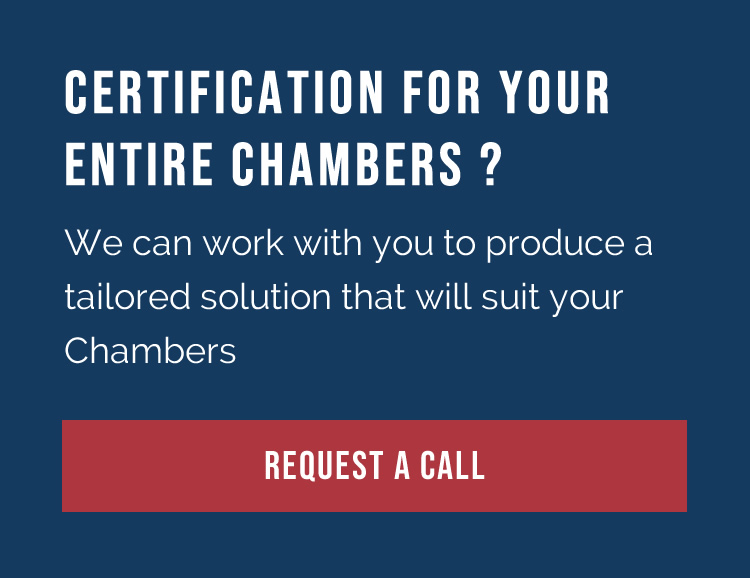 Certification for your entire chambers