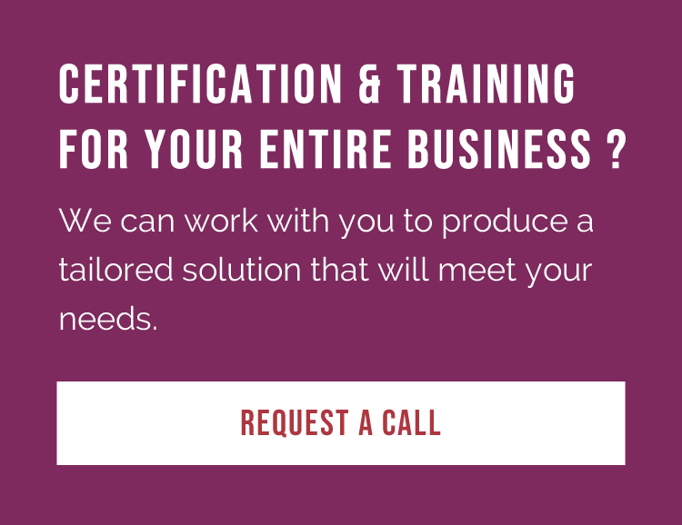 Certification for your business