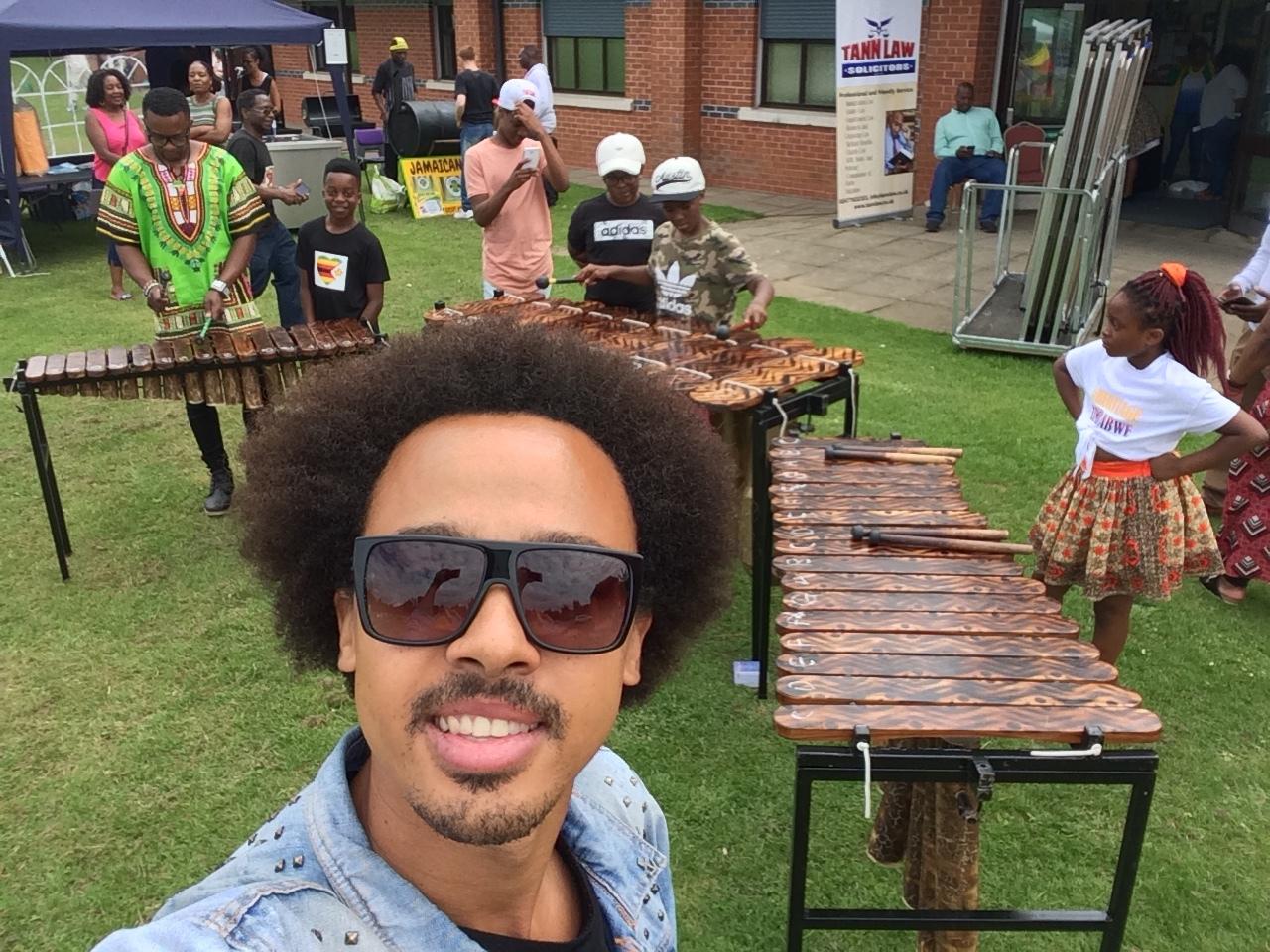 Mini marimba workshop at Heritage Zimbabwe Culture Day
