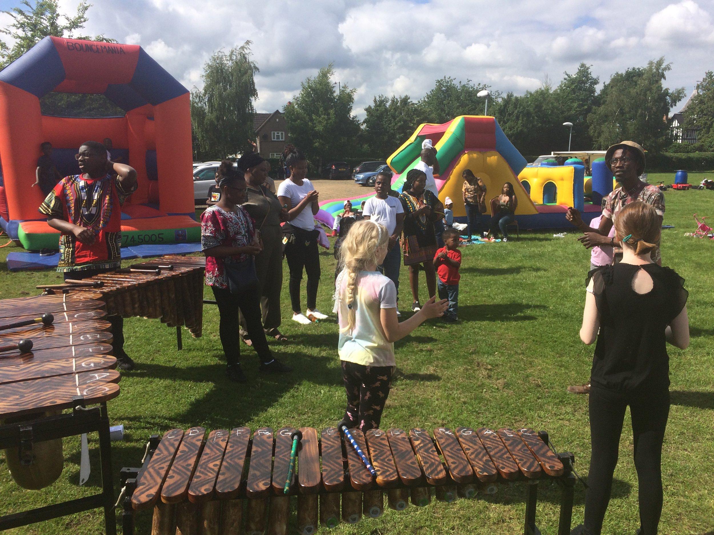 Combined marimba & dance workshop