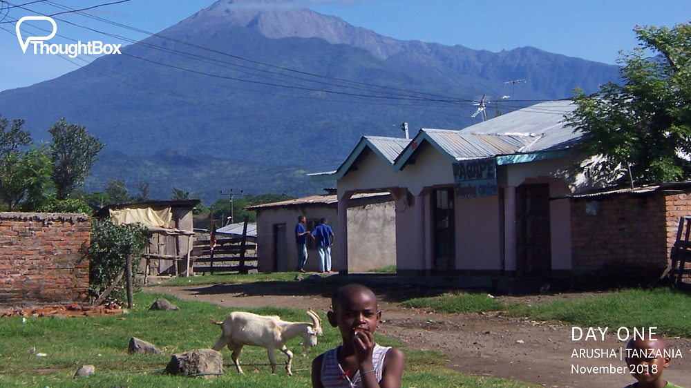 Mount Meru - the majestic presence overlooking the city of Arusha and the surrounding towns and villages.