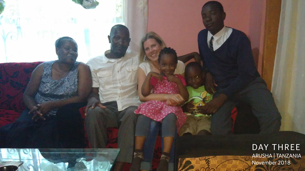 Enjoying happy reunions with old next door neighbours from the time that ThoughtBox Director lived out in Tanzania.