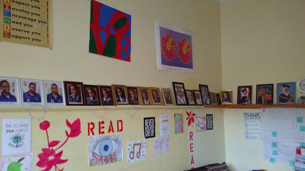The residents of the Girls Foundation on proud display. We loved some of the inspirational posters that they had made for the display wall.