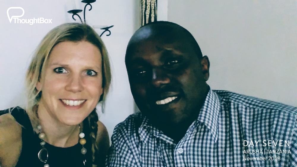 Reuniting with great friend Revocatus, an old friend and newly appointed Headmaster of Steps Academy in Usa River - a school supporting young people in the local area to make big steps in life.