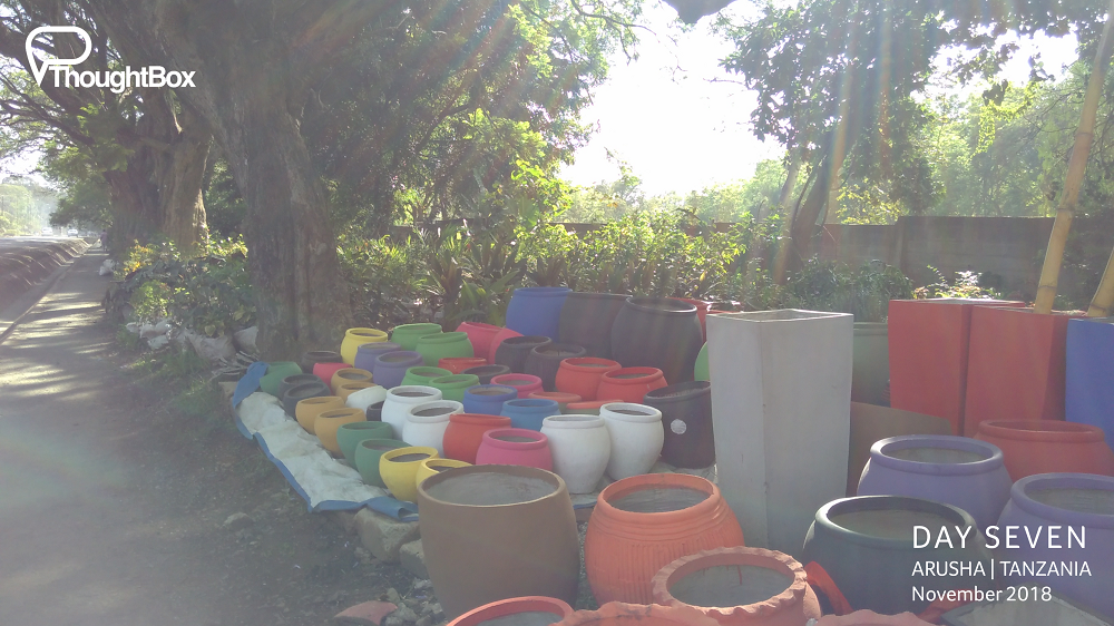 You can buy your garden pots as you're walking on by!