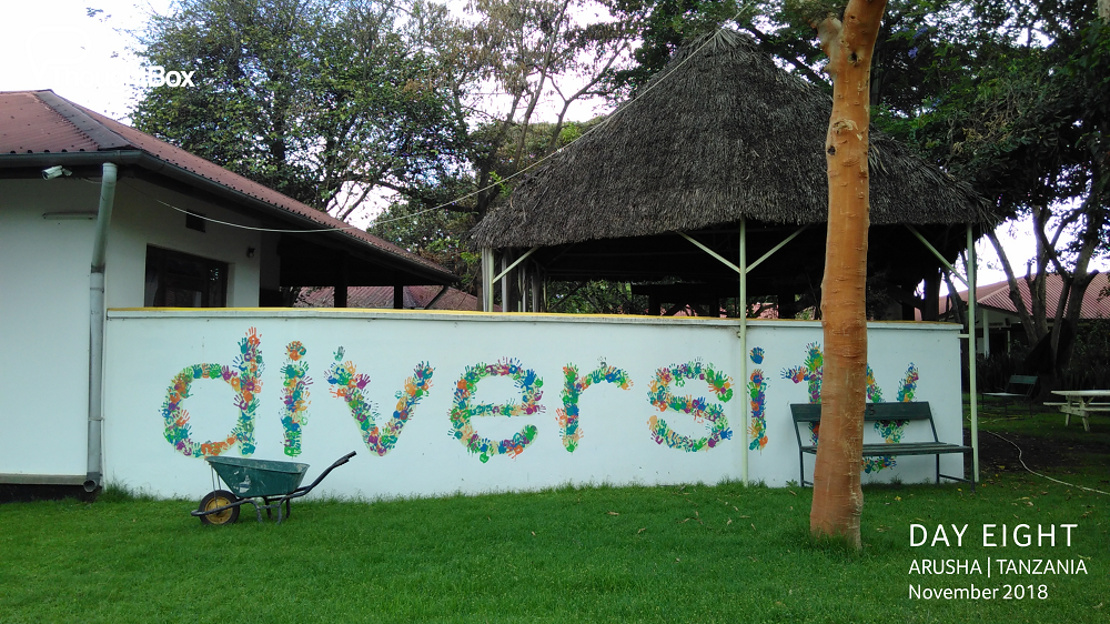 We returned again to ISM Arusha to deliver a workshop with students called 'Becoming Me'. What a beautiful welcome into the school, made with the handprints of all of the students.