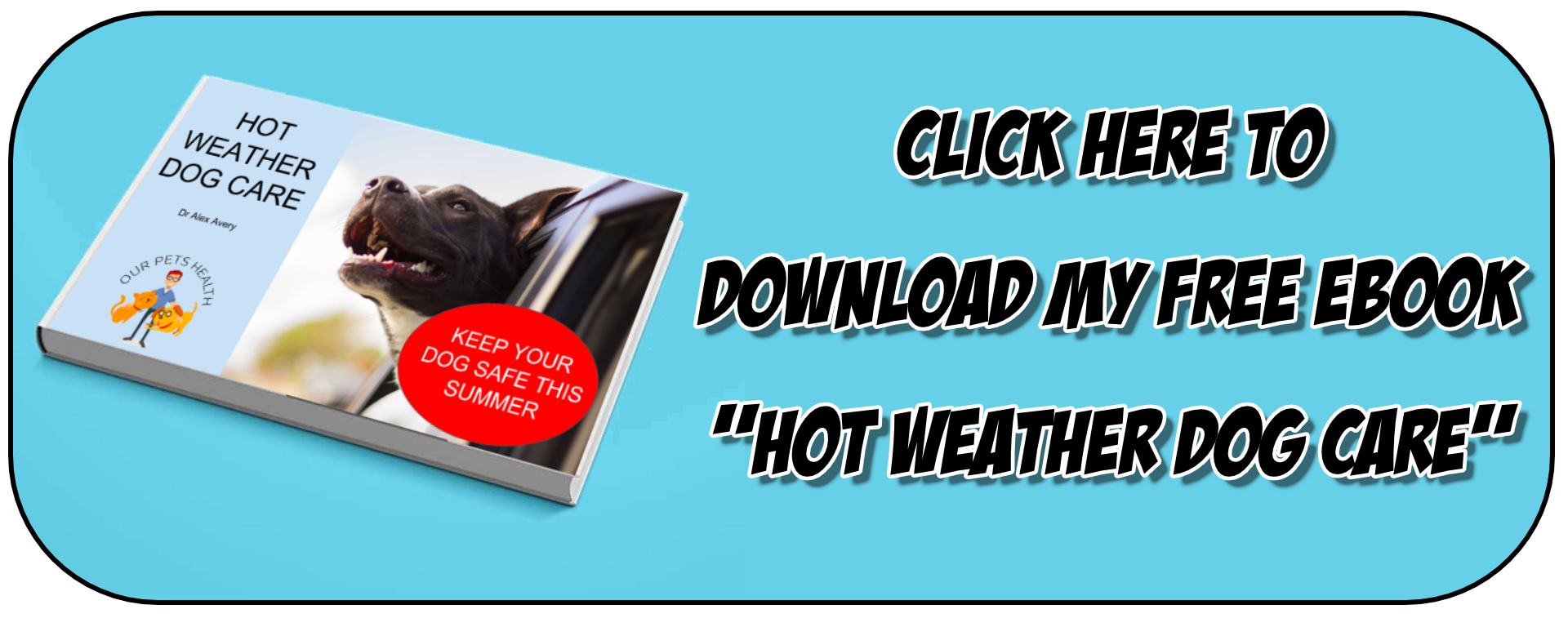 download my ebook: hot weather dog care - keep your dog safe this summer and learn how to keep your dog cool in hot weather