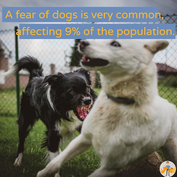 a fear of dogs affects 9% of people