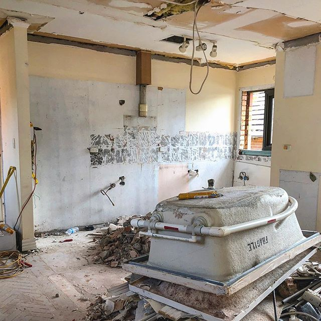 Lets rip everything out first. Drummoyne project. (This was the Kitchen - not the bathroom) #demolition #renovation#interiordesign
