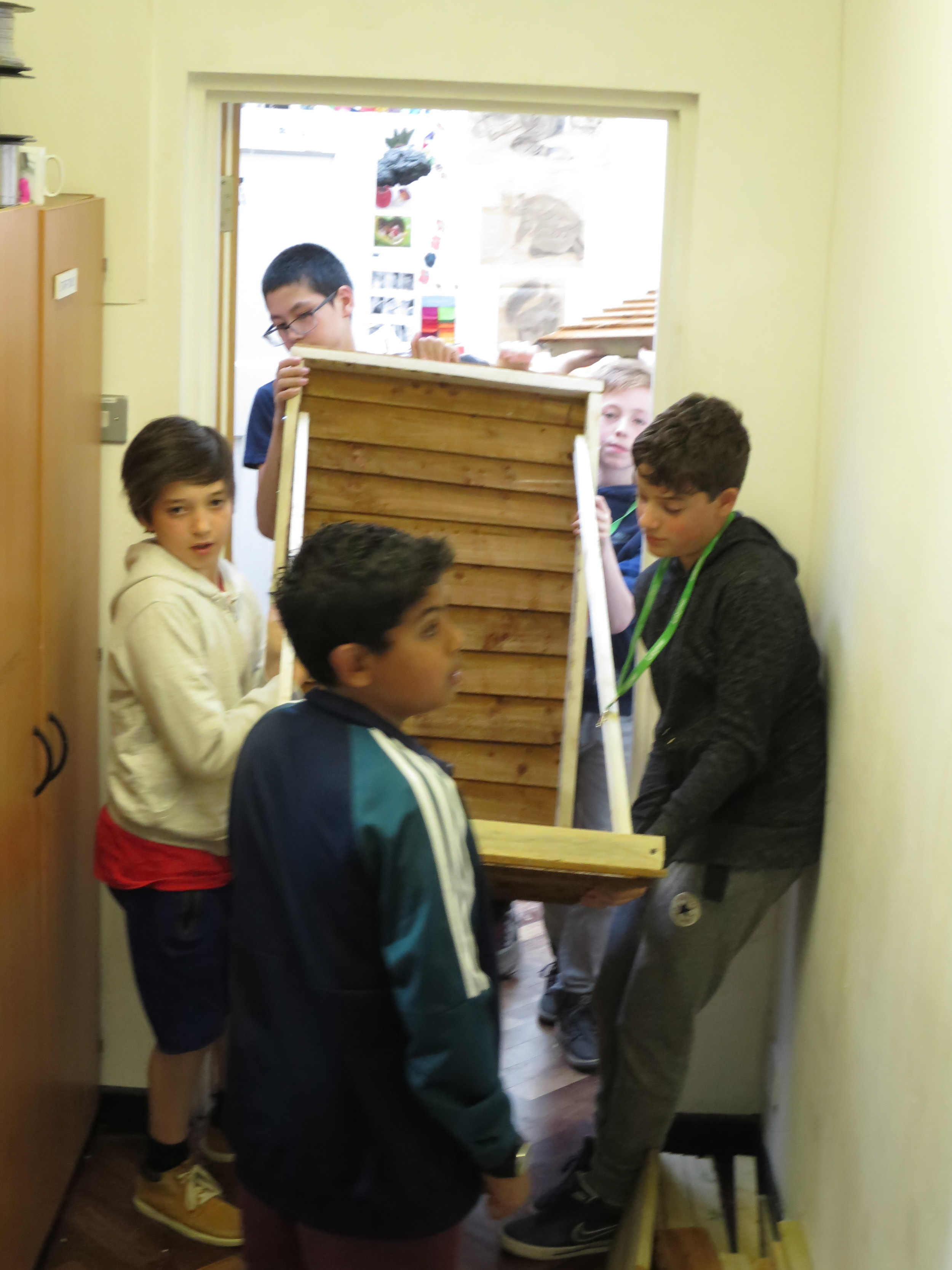 the panels had to fit through the classroom doors