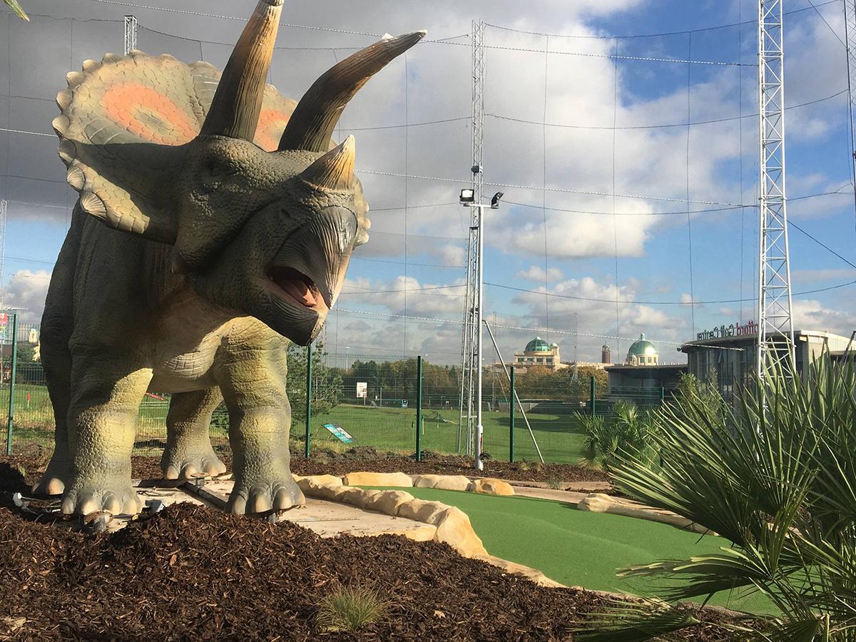 Dino Falls Triceratops