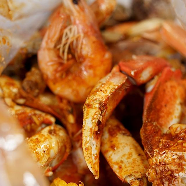 Just the right amount of seasoning to compliment this wondrous bag of seafood.  #cajun #lemonpepper #garlicbutter #thetrifecta #cajunspotmanteca #cajunspottracy