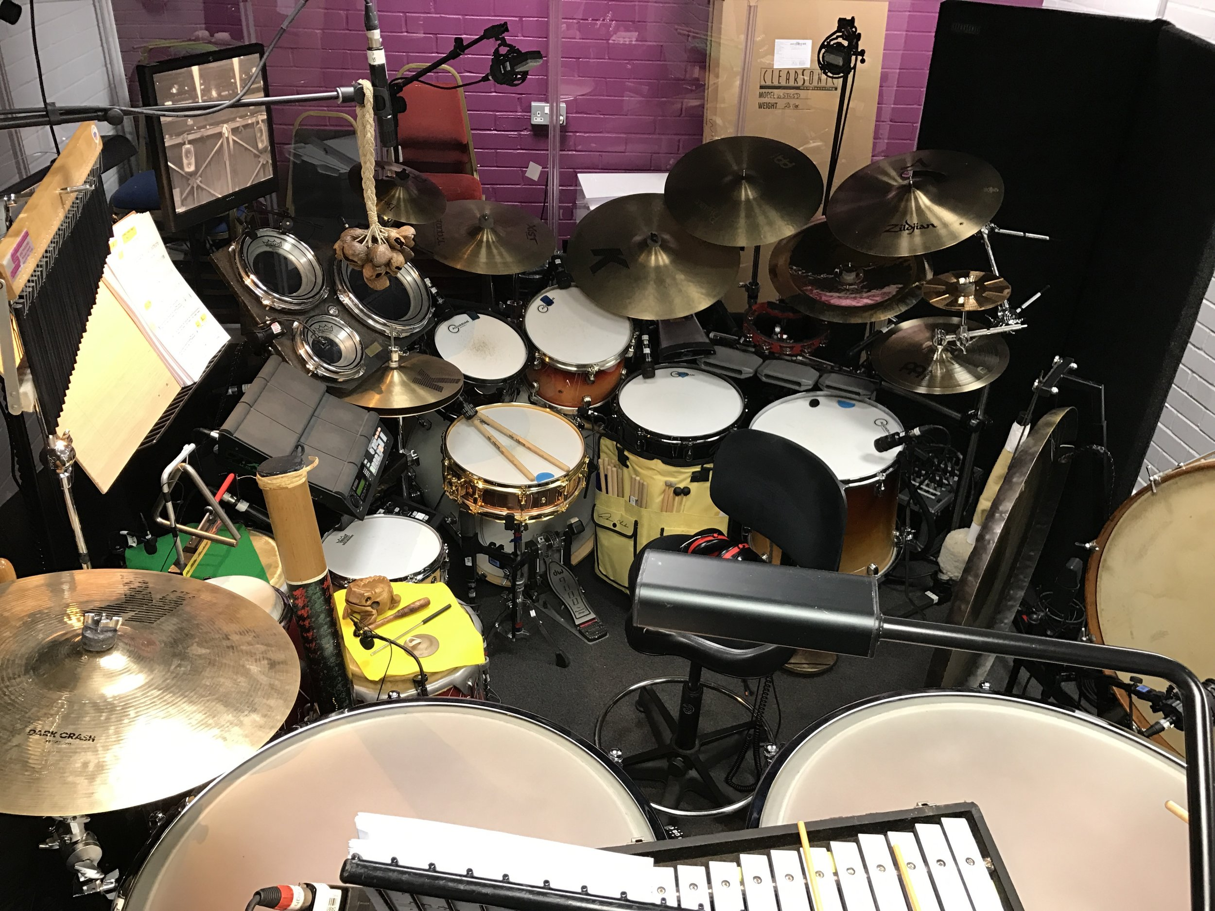 Matt's set up for Wind In The Willows