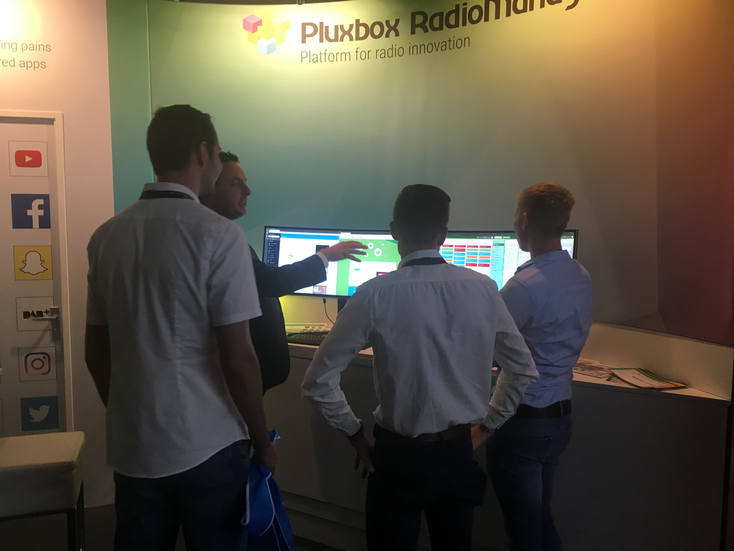 The booth of PLUXBOX at the IBC2018
