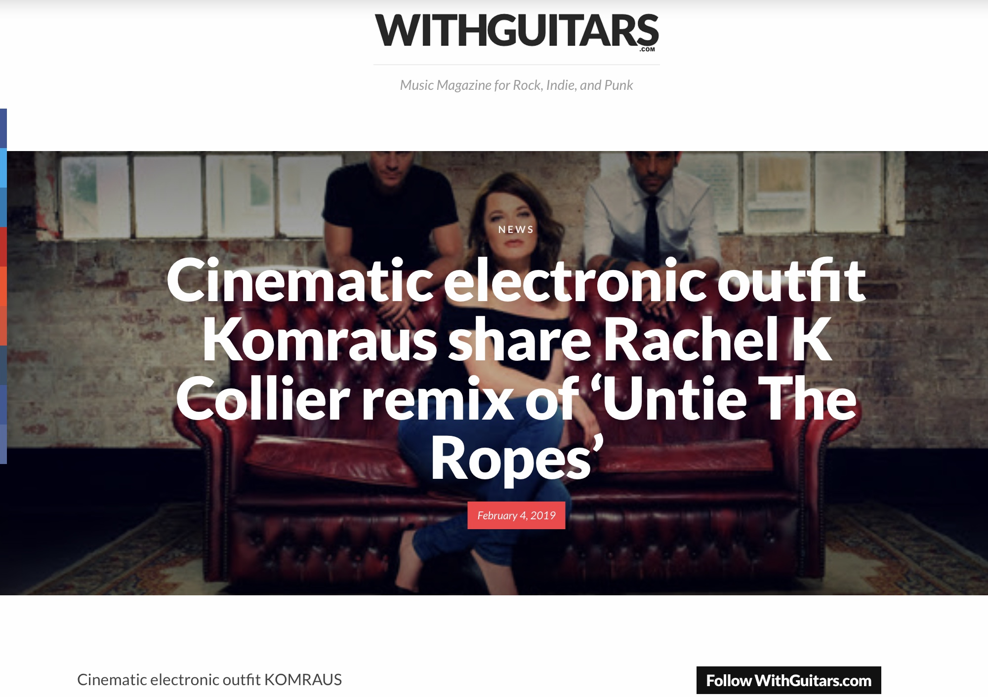 WITH GUITARS MAG, review of 'Untie the ropes' Remix -