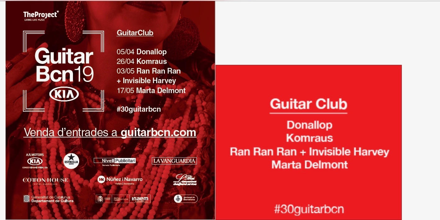 Guitar BCN, Banners - Banners for GUITAR Barcelona all over the city