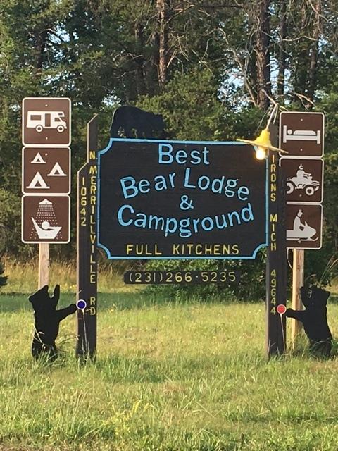 Best Bear Lodge & Campground  www.bestbearlodge.com   231-266-5235
