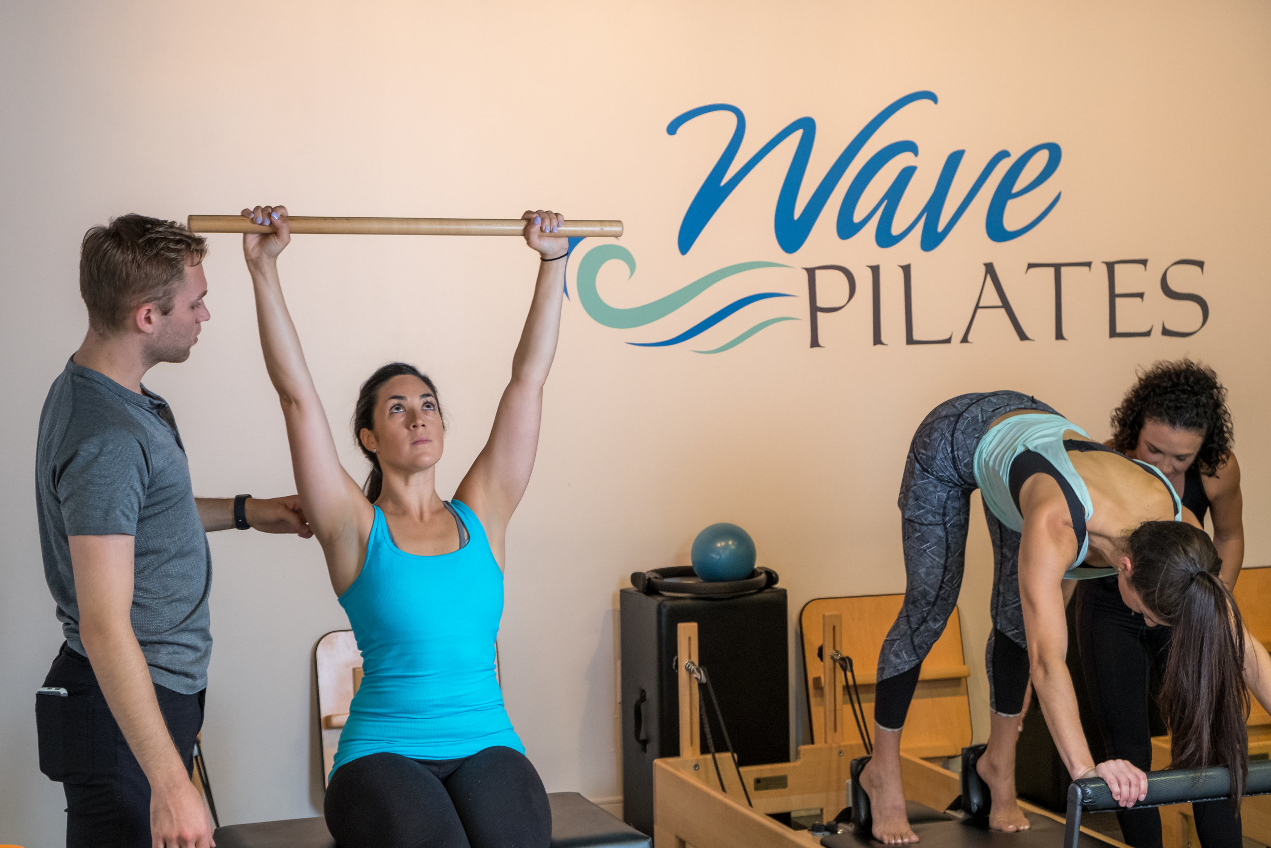 What is Pilates?  - Pilates is a system of mind-body exercise evolved from the principles of Joseph Pilates. Focusing on the core muscles, Pilates exercises teach proper breath patterns and alignment of the spine, which strengthen the deep torso muscles to help alleviate back pain and prevent injury as well as increase an individual's flexibility and strength. It is a challenging, yet functional form of exercise used to enhance lifelong well-being. Pilates just might be the anti-aging tool you have been searching for!With a workout such as Pilates, you can be sure that you will not only have a flat tummy, but you will completely transform your body into a long, lean and muscular build. It will give you a sense of awareness that can be taken and used in everyday life, whether you are engaging your abdominals while standing in line at the grocery store or practicing your breathing patterns as you sit in traffic. Pilates is not just a workout, it truly is a life-changing practice.