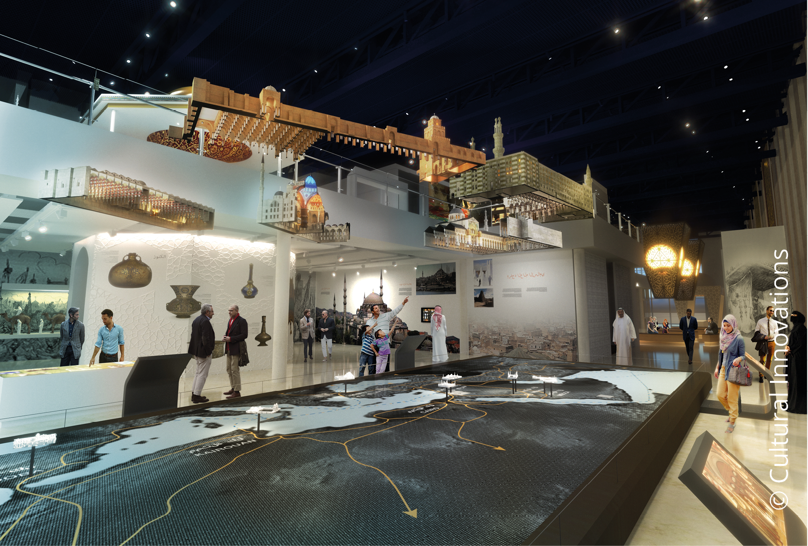 Sheikh Abdullah Al Salem Cultural Centre Arabic Islamic Science gallery © Cultural Innovations