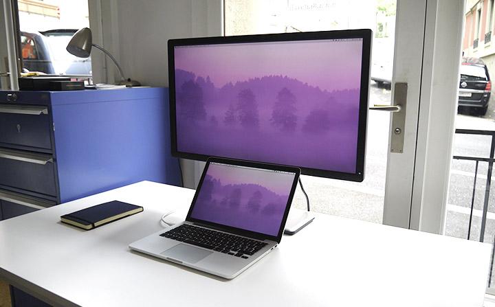 """Un MacBook Pro 13"""" Retina + écran Dell 27"""""""