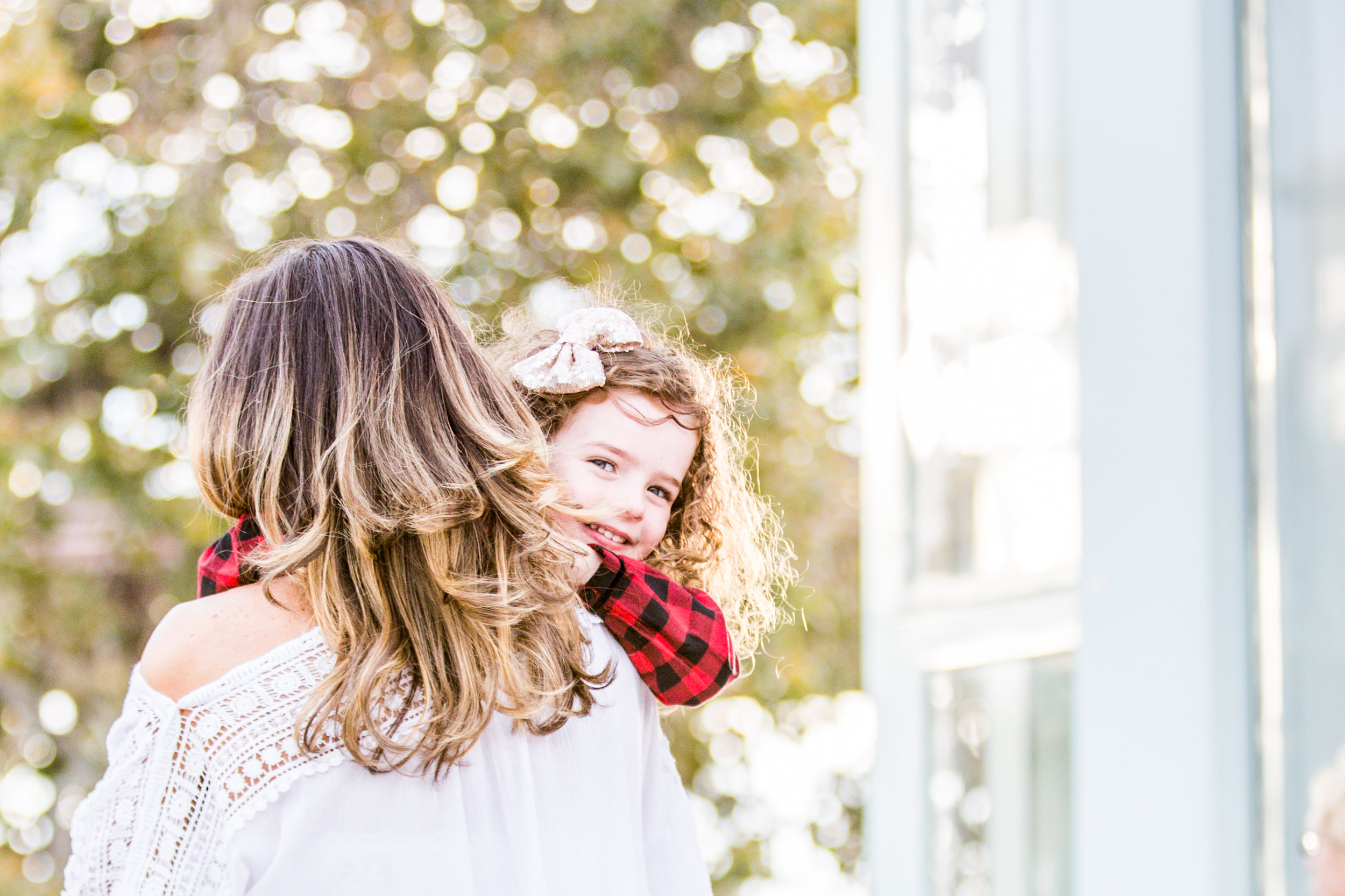 """At one point the little one tripped and got a """"boo-boo"""" on her knee. Mom just swept her up comforted her daughter and magically the tears turned into smiles. A mother's kiss can do that."""