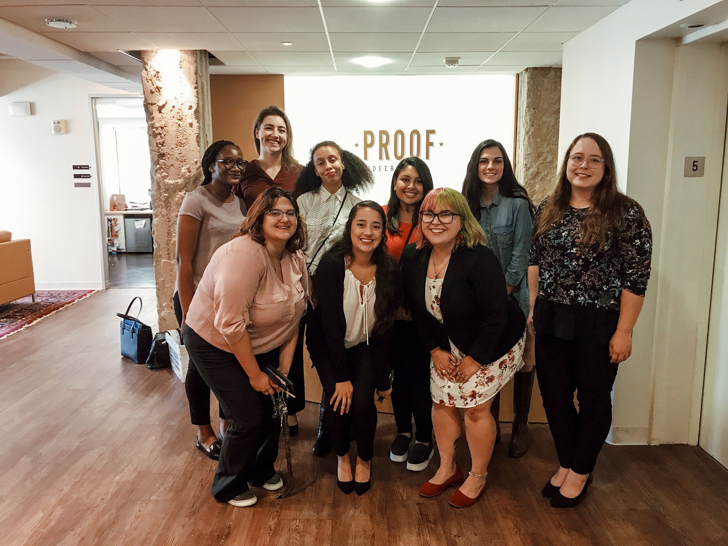 Women in the Workplace!  Our Ad Club ladies visited Proof Ad Agency in Austin, TX.
