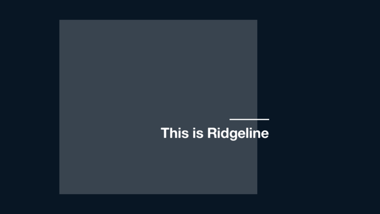 This Is Ridgeline
