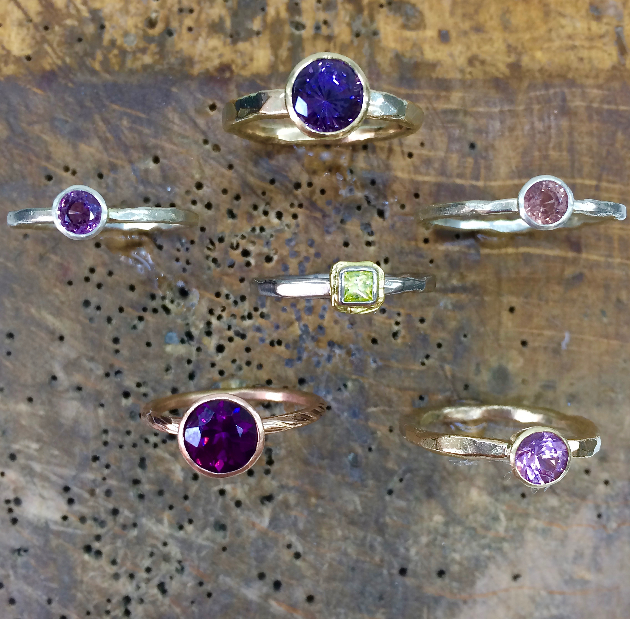Little Pops of colour - From Spinel to Diamond, and Sapphire and Garnet too. -