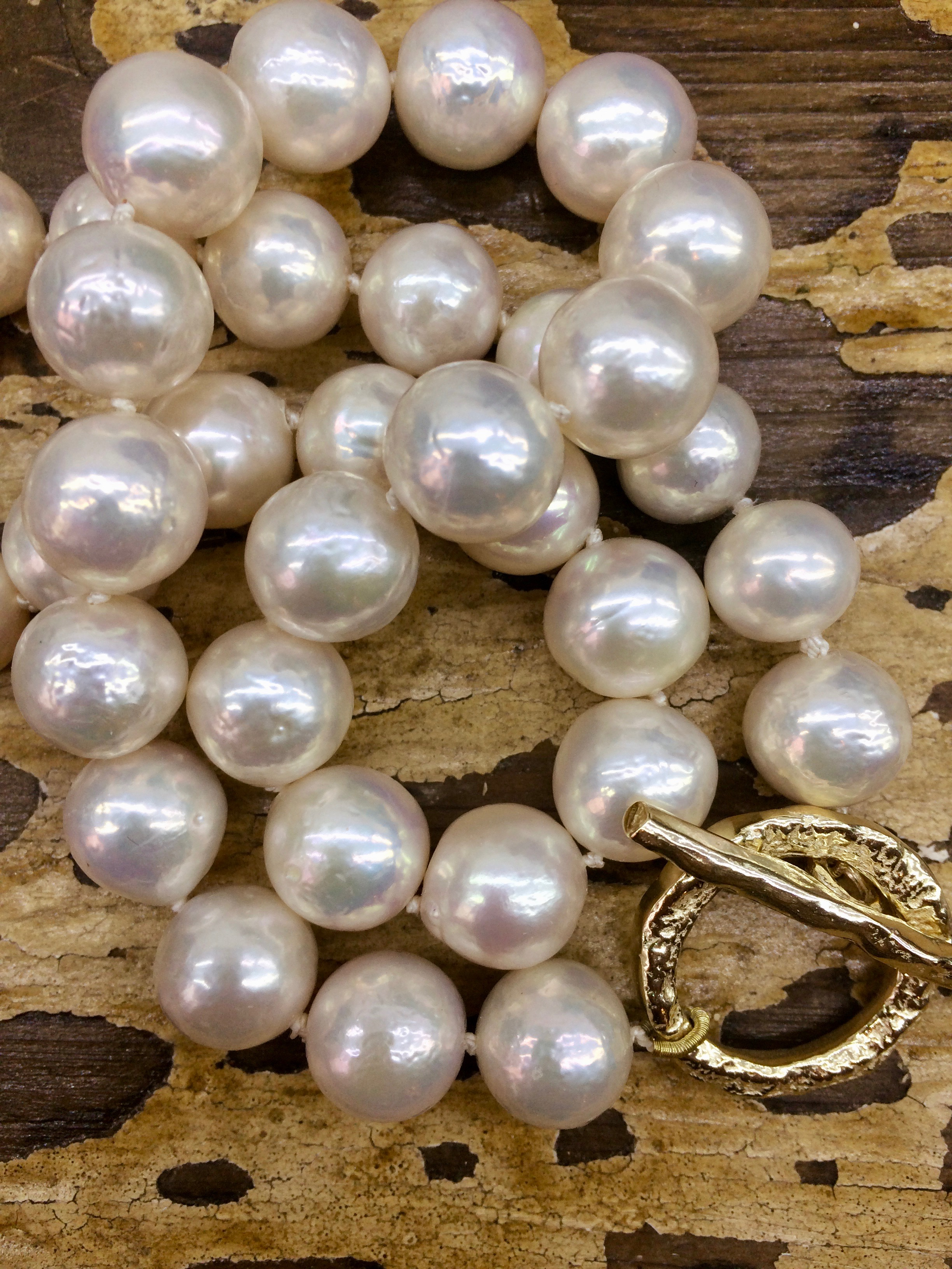 969ae1531548d White Baroque Pearl Necklace with 9ct Yellow Gold T-Bar Clasp — Erin Cox