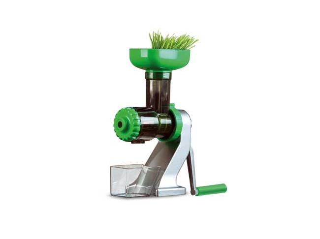 Tribest Z-Star - Wheatgrass contains some of the highest concentrations of vitamins, minerals, and nutrients when compared to other fruits and vegetables. It is also one of nature's richest sources of chlorophyll and hundreds of other live enzymes. Until recently, obtaining the juice from this miracle plant required purchasing expensive juicers or making a trip to your local juice bar to buy a shot.Now, with the Tribest Z-510 Z Star Manual Juicer, Tribest makes it affordable to be able to juice wheatgrass at home, or on the go. Its unique single-auger design uses an extremely gentle and efficient process to extract more high-quality juice from each blade of wheatgrass - without electric power. Not only can it juice wheatgrass, the Z Star Manual Juicer can also extract great-tasting and nutritious juice from a variety of fresh fruits, vegetables, and leafy greens. The Z Star Manual Juicer is lightweight, portable, and versatile, so you can enjoy fresh juice wherever you go!Specifications:13 [w] x 11.5 [h] x 5 [d] inWeight: 6.5 lbs.