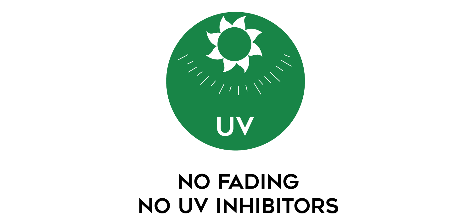 CeDUR works in partnership with the suns UV rays and does not use UV inhibitors or UV stabilizers on the product surface. This means no color fading or product discoloration over time.