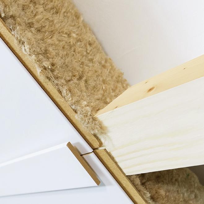 Horizon - In dit systeem staat de natuurlijke herkomst van materialen op nummer 1. Wij gebruiken vlaswol met een goede Isolatiewaarde en bekleden het dak met gipsplaten.