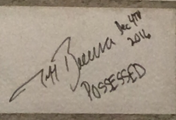 Jeff Becerra (no relation to Gabe) of Possessed signed the wall of the club in Switzerland! I legitimately got so super fan psyched when I saw this!