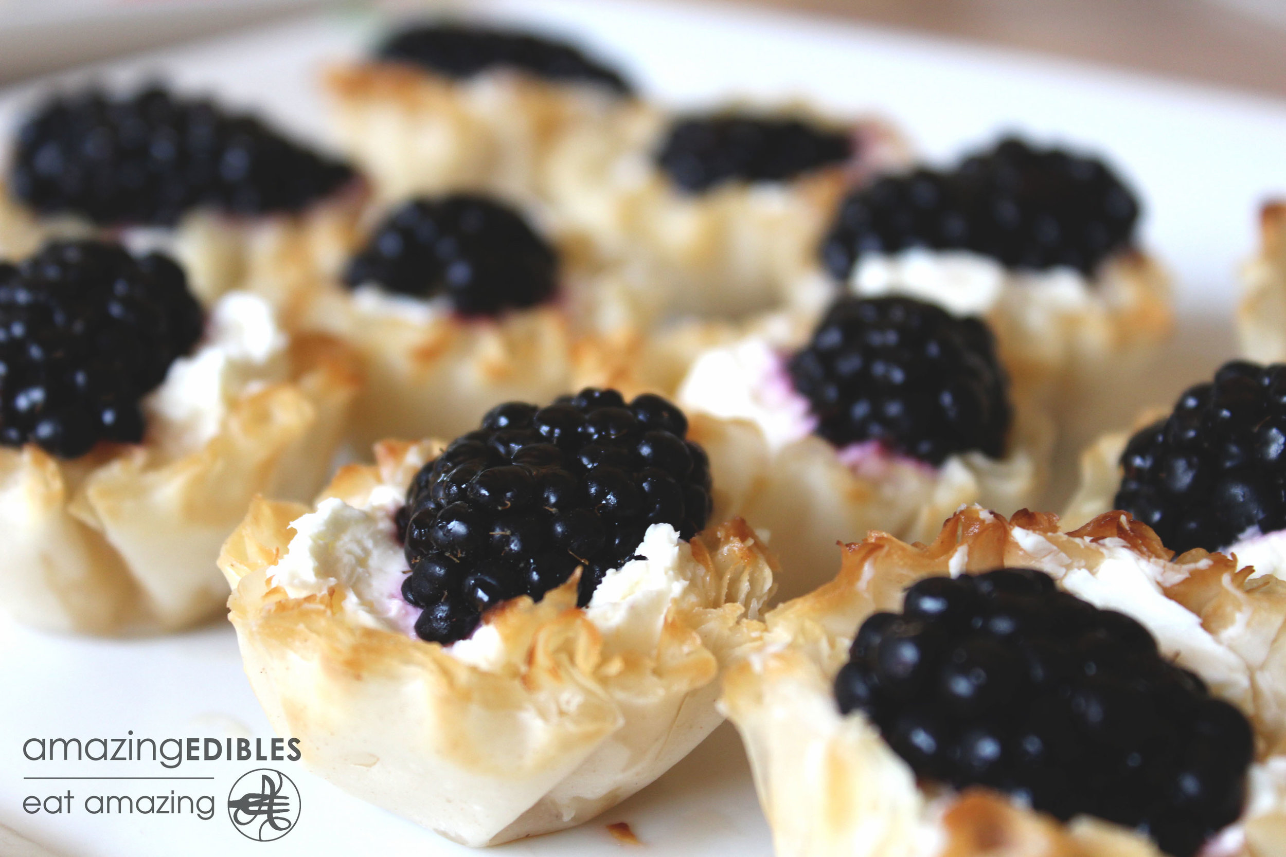 Goat Cheese & Black Berry Tartlet