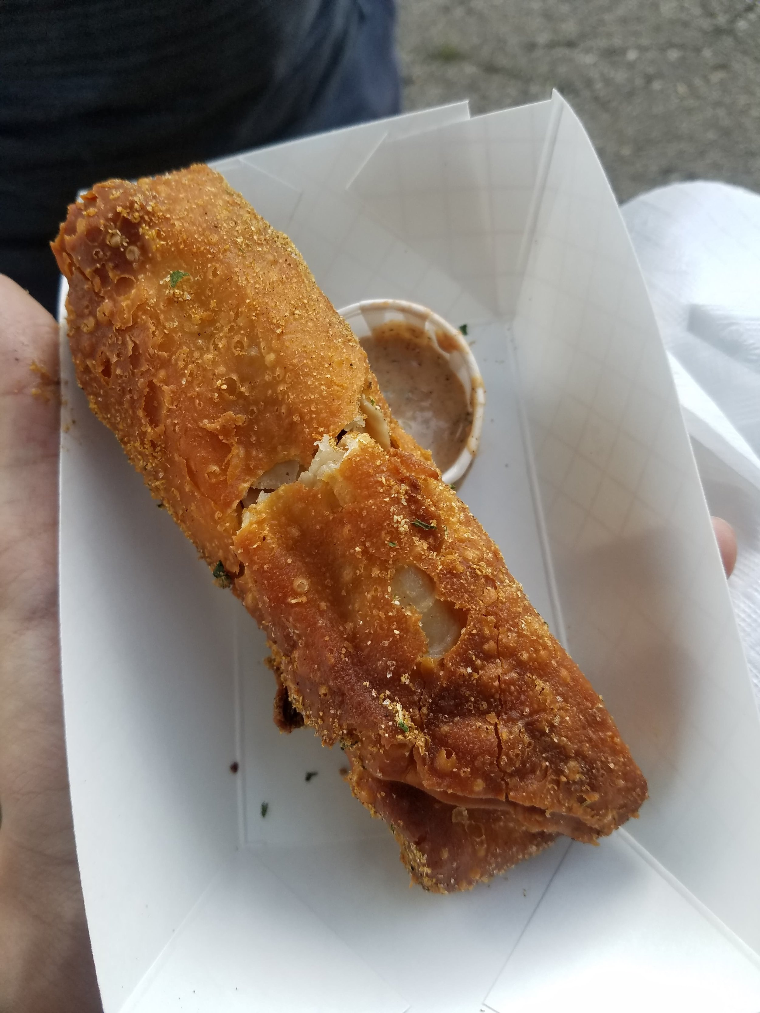 Taco Ole with Ground Turkey Egg Roll - The regular outside belies a delicious, traditional Mexican inside.