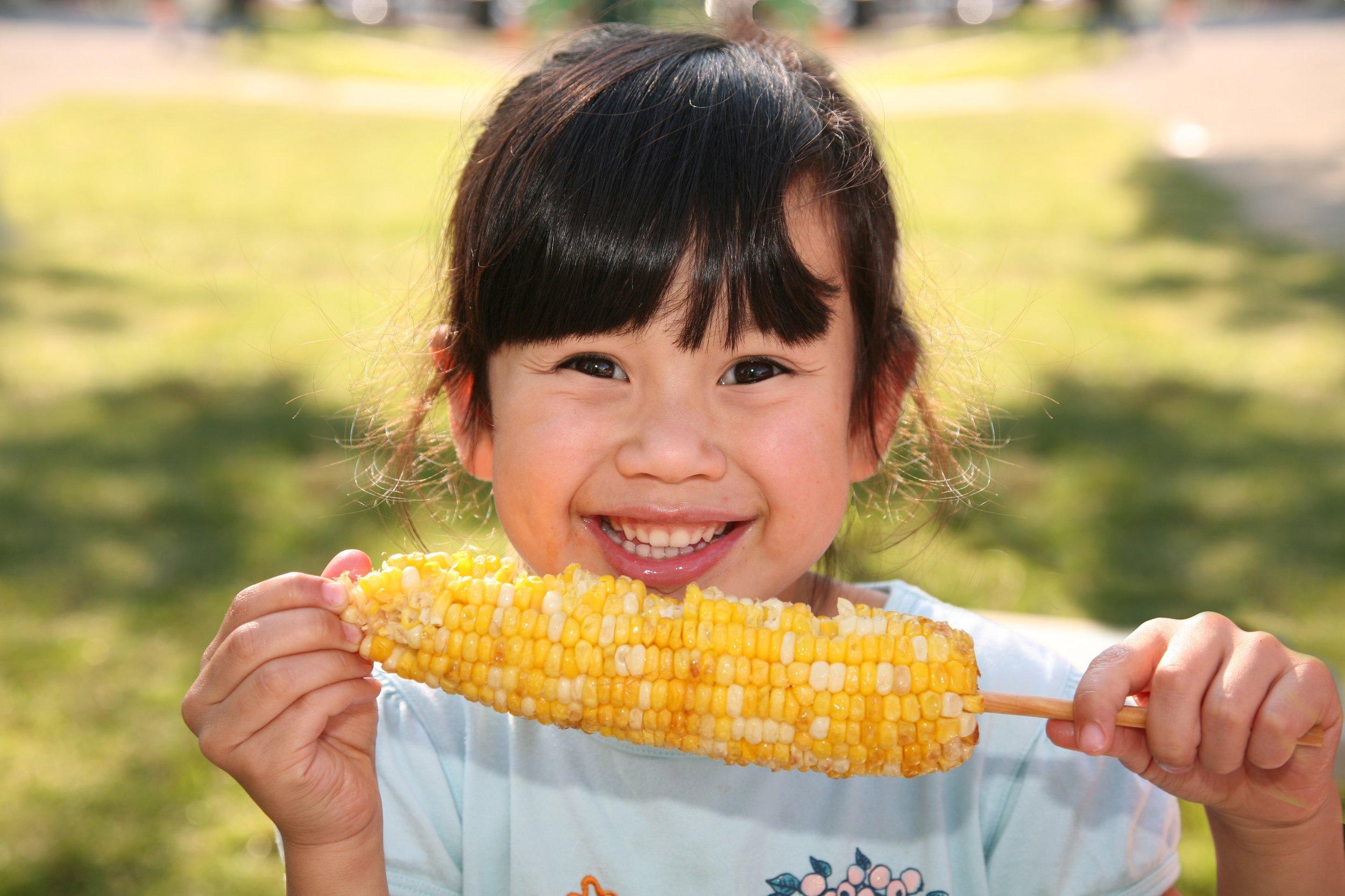 Corn makes everyone happy! :)