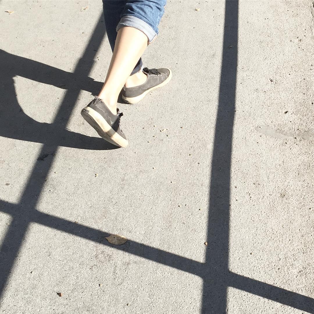 Walk the line.
