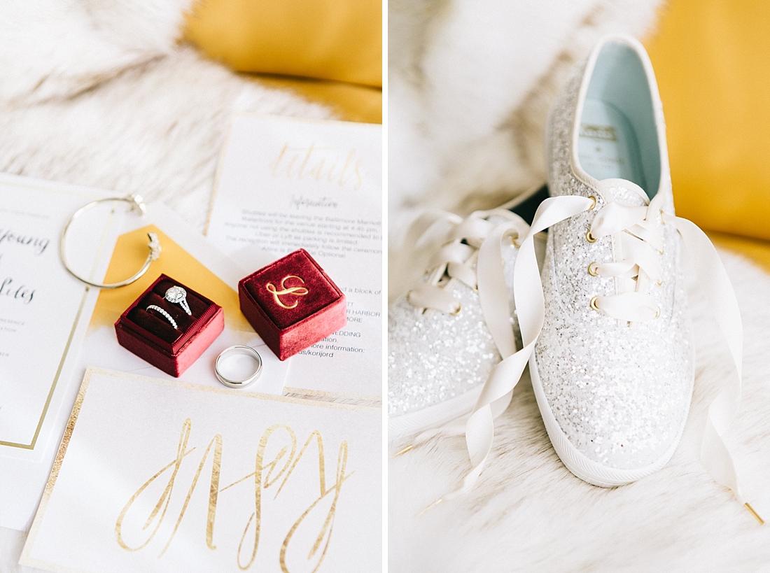 Marryland Weddings Modern Fall American Visionary Arts Museum Burgundy Gold Sarah Murray Photography_0826.jpg