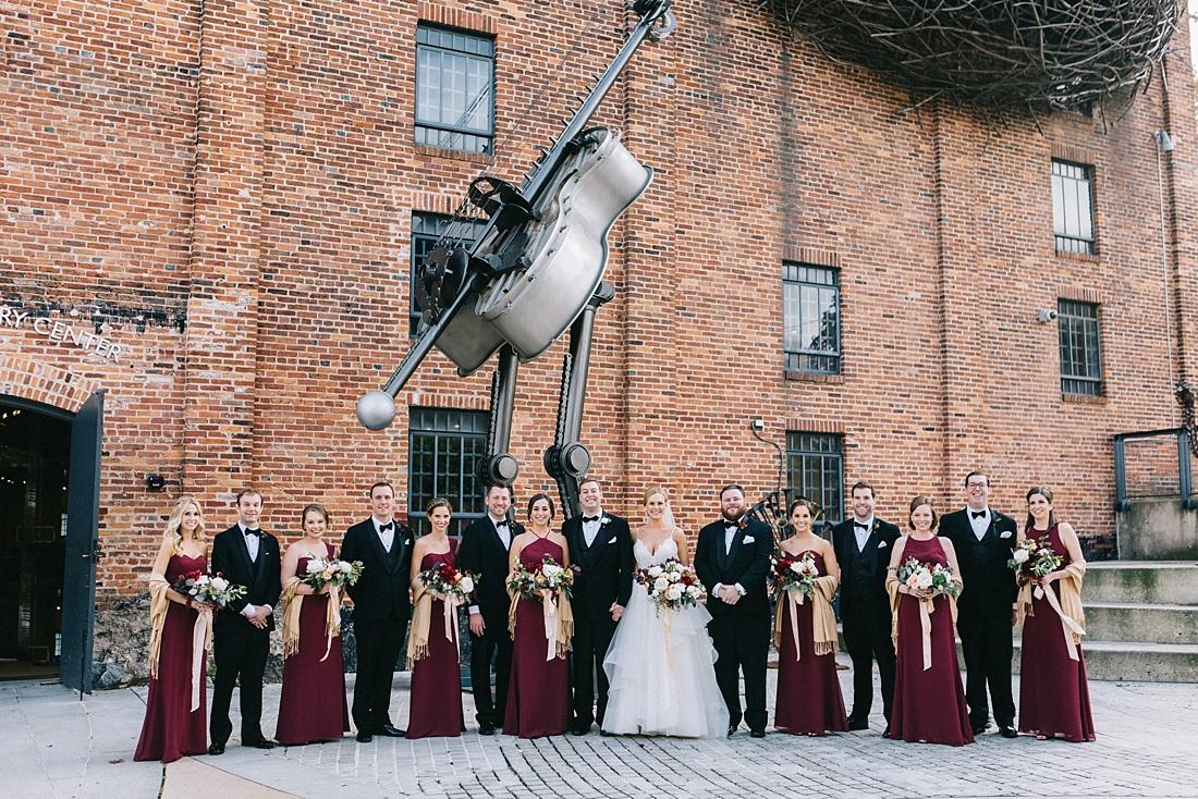 Marryland Weddings Modern Fall American Visionary Arts Museum Burgundy Gold Sarah Murray Photography_0854.jpg