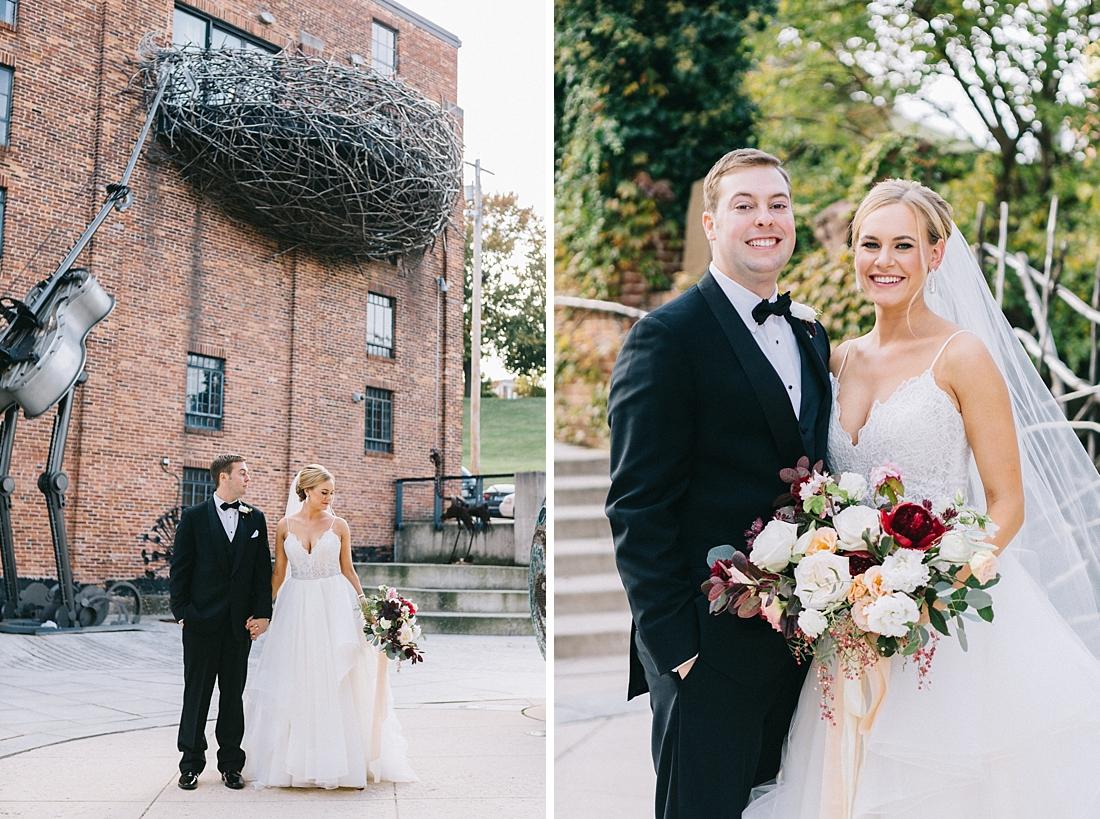 Marryland Weddings Modern Fall American Visionary Arts Museum Burgundy Gold Sarah Murray Photography_0842.jpg