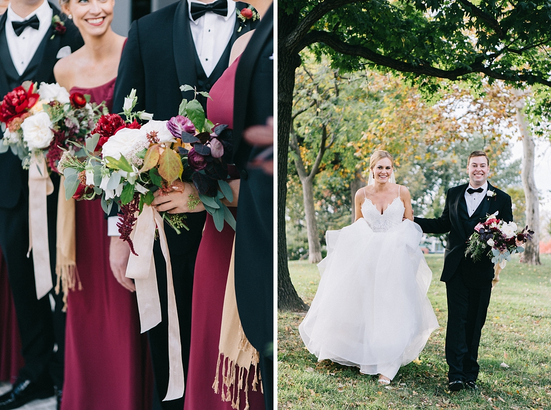 Marryland Weddings Modern Fall American Visionary Arts Museum Burgundy Gold Sarah Murray Photography_0855.jpg